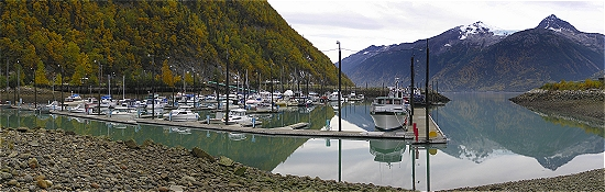 Home is where the boat is. Low tide at the Skagway Small Boat Harbor. Note, the Cruise ships will dock just behind the harbor, just a stone's throw away.